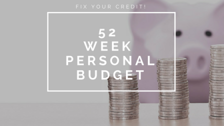 fix your credit personal budget
